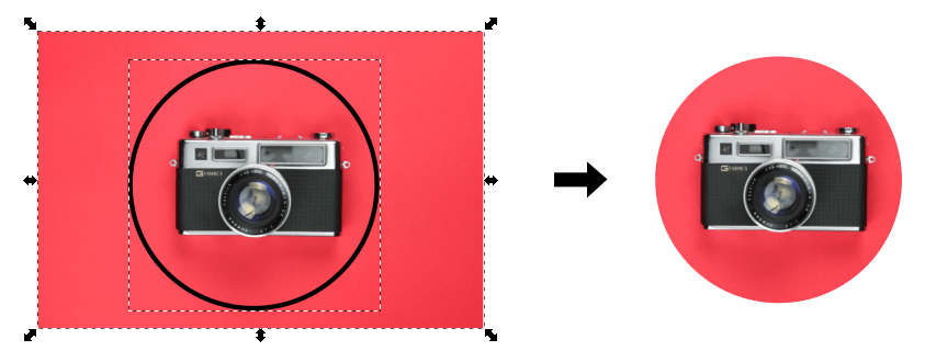 Clip an image in Inkscape using a circle