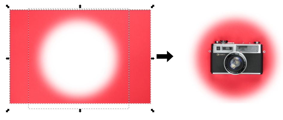 Masking in Inkscape gradient effect