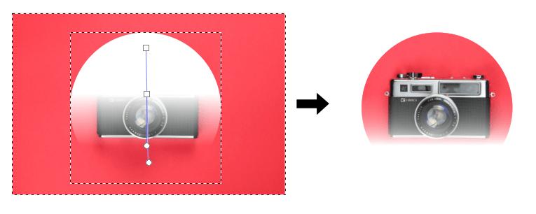 Masking in Inkscape gradient effect