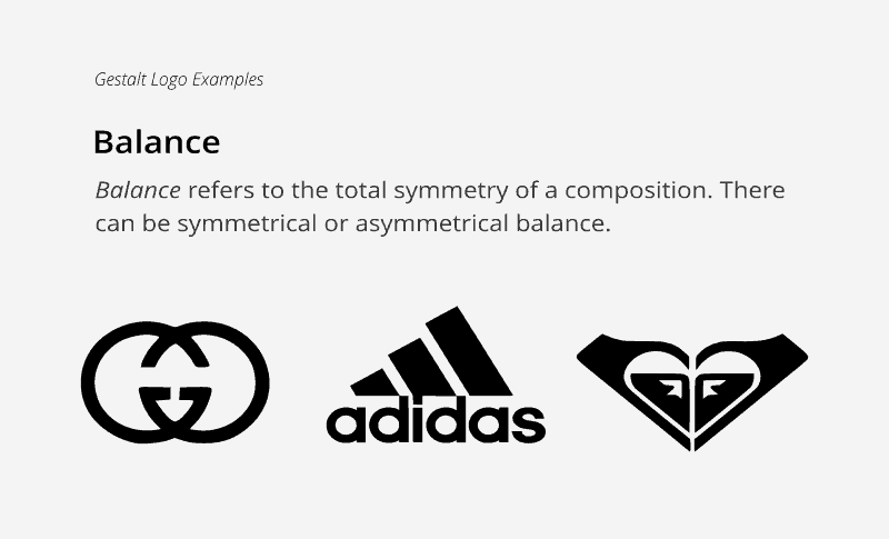 Balance in logo theory can be symmetrical or assymetrical