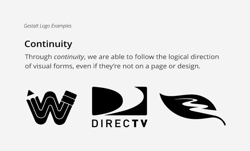 Continuity principle in gestalt logo psychology