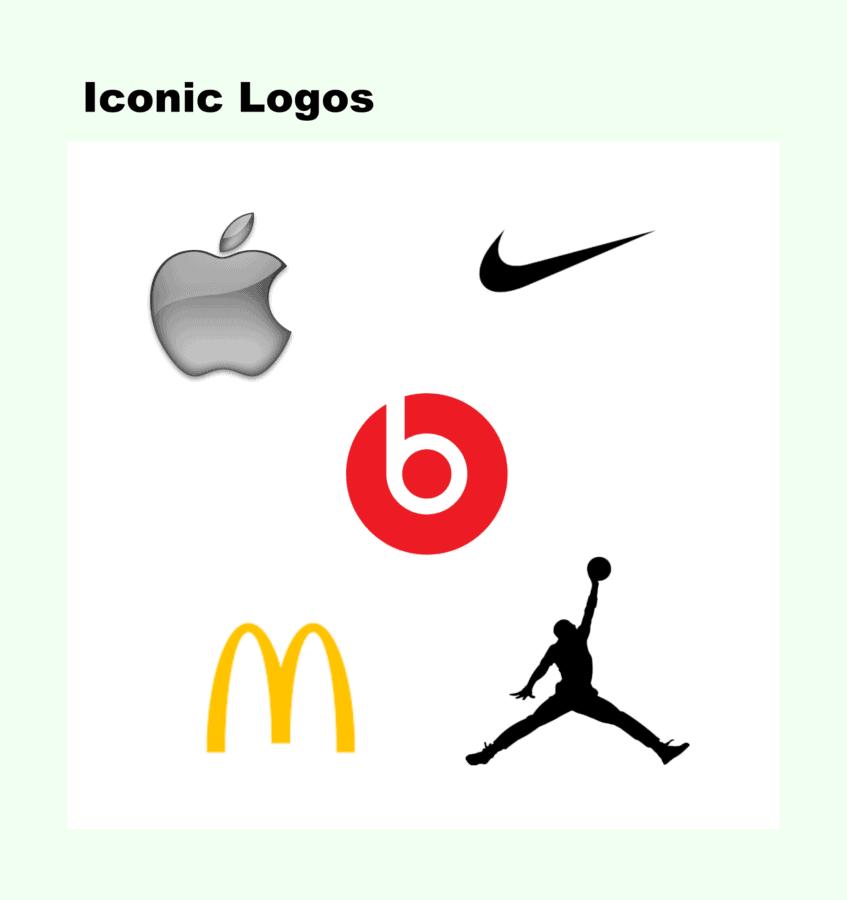 Icons in logo design