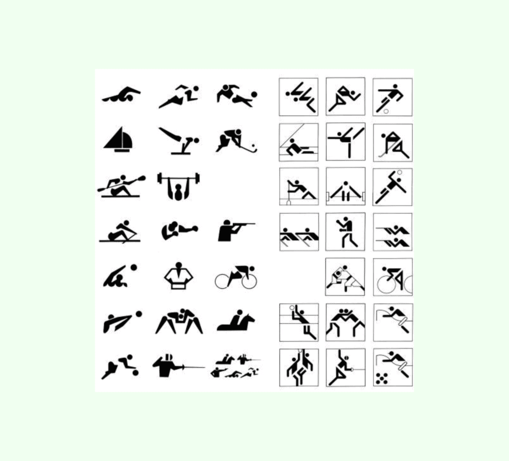 Examples of pictograms Otl Aicher 1972 Olympics