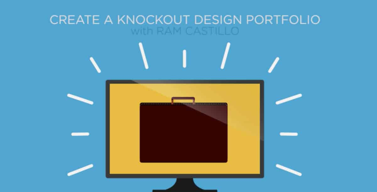 Create a Knockout Graphic Design Portfolio course on Creative Live.