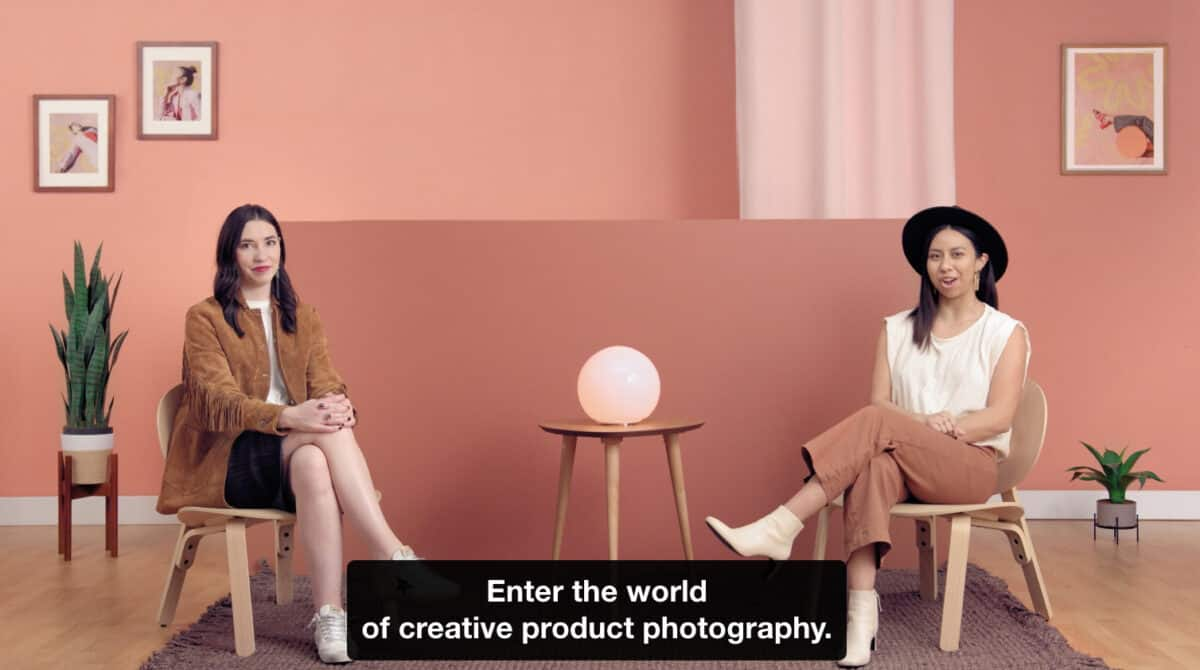 Creative product photography course on Domestika.